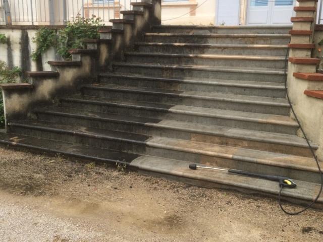 Nettoyage Haute Pression Escalier
